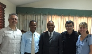 In getting ready for our trip in April, we met with local Pastors and Conference leaders.