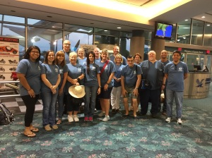 Our East Florida tegion mission team at Daytona airport ready to leave. 16 people and 36 suitcases!