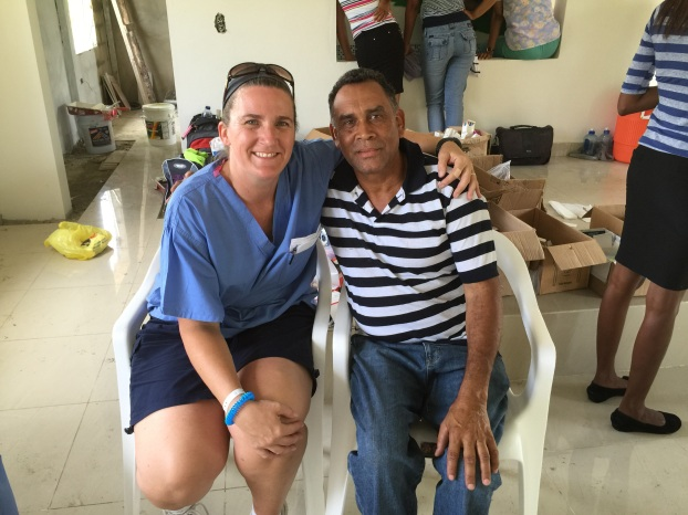 Pastor of the church with Linda.   We had met when we did the scouting trip the month before.